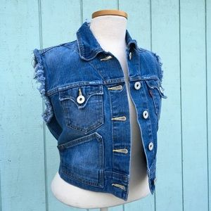 Levi's Red Tab Distressed Denim Vest [Read Desc]